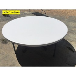 Table ronde 200 cm