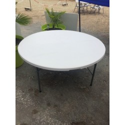 Table ronde pliable 152 cm