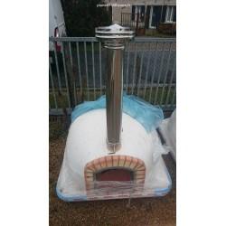 Rallonge cheminée avec chapeau (F 140 cm)